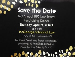 Save the Date: Mock Trial and Moot Court Fundraising Dinner Planned