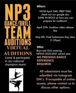 NP3 High Dance Team Auditions are Now Virtual